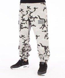 SmokeStory-Premium Flag Moro Lines Spodnie Dresowe Szare/Camo
