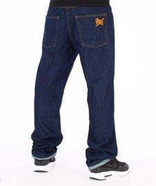 SmokeStory-SSG Tag Slim Jeans Dark Blue