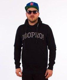 Stoprocent-100PRO17 Bluza z Kapturem Czarna