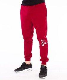 Stoprocent-SMC Jogger Kneetag17 Spodnie Czerwone