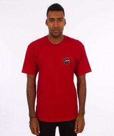 Stussy-International Dot T-Shirt Dark Red