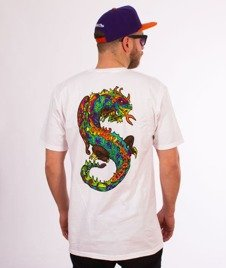Stussy-Neon Dragon T-Shirt White