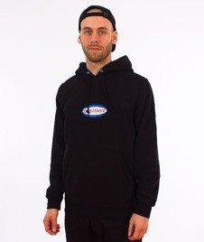 Stussy-Oval Logo Hood Bluza Kaptur Black