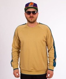 Stussy-Poly Track Crewneck Bluza Khaki