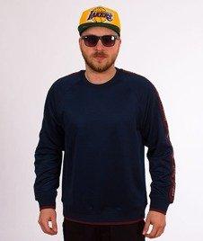 Stussy-Poly Track Crewneck Bluza Navy