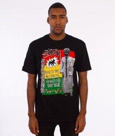 Stussy-Rastafarai T-Shirt Czarny
