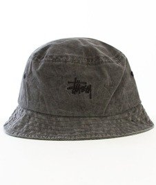 Stussy-Smooth Stock enzyme Bucket Hat Black