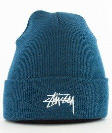 Stussy-Stock Fa17 Cuff Beanie Czapka Zimowa Blue