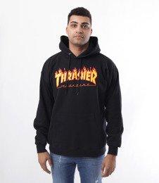 Thrasher-Flame Hood Bluza Kaptur Czarna